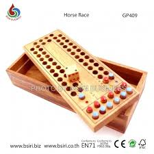 Wooden Horse Racing Game New family wooden horse racing funny board games set high quality 85