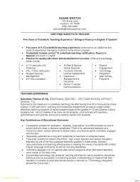 Substitute Teacher Resume Sample 60 Substitute Teaching Resume Free Sample Resume 17