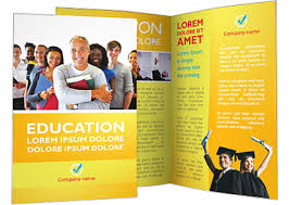 Student Brochure Template Happy Students Brochure Template Design Id 0000002429