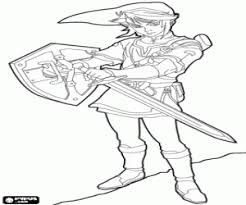 Kleurplaat Link Van De Legende Van Zelda Kleurplaten