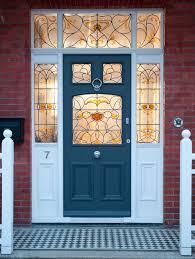 stain glass front door british