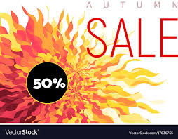 Fall Flyer Autumn Sale Flyer On Abstract Fall Background