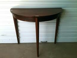 semi circle accent table half round accent tables full size of decorating half round telephone table