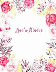 Binder Cover Page Binder Cover Sheet Data Binder Cover Sheet Miniki Club