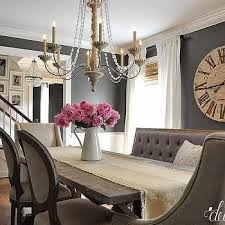 i would keep the bench and one of the other chairs dark gray grey dining room