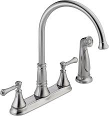 delta 2497lf ar arctic stainless cassidy kitchen faucet with side spray includes lifetime warranty faucet com