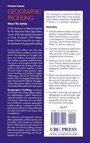geographic profiling d kim rossmo clinical geographic profiling d kim rossmo 9780849381294 clinical psychology amazon