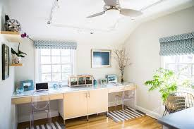 white airy home office. Light And Airy Home Office Transitional-home-office White