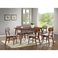 gg baxton studio 5 piece modern dining set 2. baxton studio sacramento mid-century dark walnut wood 7pc dining set , emfurn - 2 gg 5 piece modern