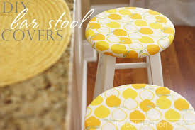 easy diy bar stool chair covers tutorial thecelebrationpe chaircovers yellow kitchen diystoolcovers kimbyers