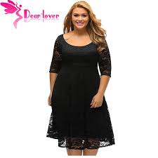Curvy Couture Size Chart Dear Lover Autumn Dress Plus Size Women Clothing White Black