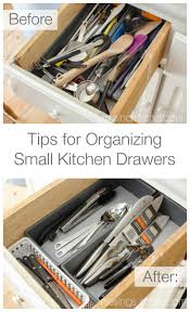 A few simple tips for organizing small kitchen utensil drawers - super easy  and super cheap