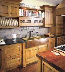 Farmhouse Style Kitchen Sinks Craftsman Kitchen Inspiration Hoosier Style Cabinetry Copper