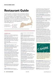 Chart Room Cataumet Menu Cape Cod Magazine June 2018 By Formerly Lighthouse Media