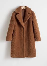 faux shearling teddy coat