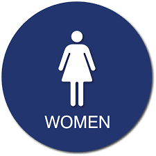 Image Library Womens Bathroom Door Sign With Tactile Text 12 Ada Sign Depot Womens Bathroom Door Sign With Female Gender Symbol And Tactile Text