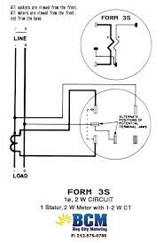 wiring diagrams bay city metering nyc 1 stator 2 wire socket w 1 2w ct