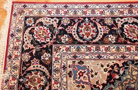 fine silk and wool isfahan persian rug 49535 corner jpg optimal jpg