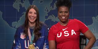 Hilary Knight missed the Stadium Series game to make her SNL debut
