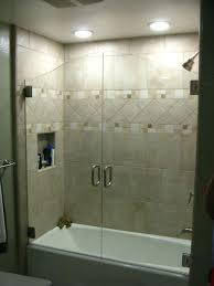 bathroom tub glass doors sliding door standard for amazing shower bathtub over enclosure applied