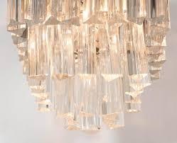 small venini chandelier three tiers with murano glass prisms