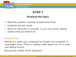 how to write a literature essay the three step process ppt video  2 step