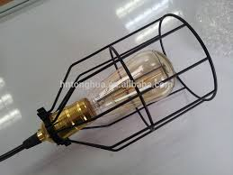 cage light shade vintage hanging lamps edison bulb pendant lights bird cage lamp shade black light