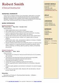 Nurse Educator Resume Clinical Instructor Resume Samples Qwikresume