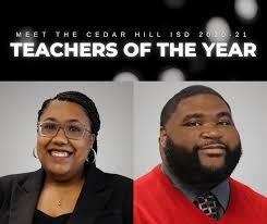 Burley, Davis Named Cedar Hill ISD Teachers of the Year
