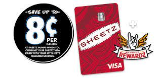 The sheetz personal credit card can only be used at sheetz locations and has rates, fees, benefits and features that are different from the sheetz visa card. Sheetz Credit Card First Bankcard