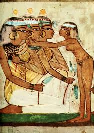 ancient egyptian wall paintings tomb of nakht banqueting scene egypt