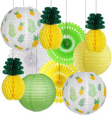 These are perfect for when you want to hang something but there is nowhere to secure it. Pineapple Party Decorations Hawaiian Party Supplies Tropical Leaves Hanging Paper Lanterns Pineapple Honeycomb Tissue Paper Fans For Birthday Luau Summer Party Home Decoration Party Yellow Amazon Com