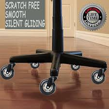 wheeled office chair. Wonder Wheels Office Chair Replacement Rubber Casters For Hardwood Floors And Carpet LIFELONG Warranty Wheeled