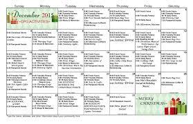 cascade park gardens 2nd 3rd floor schedule cpg 2 3rd floor december calendar 2016