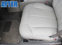 2000 2002 chevy tahoe suburban lt ls z71 leather seat cover driver bottom tan