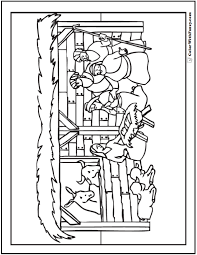 nativity coloring sheet christmas nativity coloring page stable scene