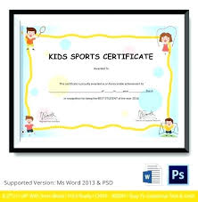 Free Certificate Templates For Word Sports Certificate Templates Free Sports Certificate Templates