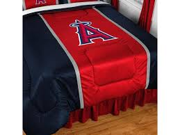 mlb los angeles angels queen comforter baseball logo bedding