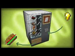 How To Make A Vending Machine Minecraft Impressive Theredengineer Minecraft How To Make A Working Vending Machine