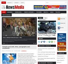 Newspaper Web Template Free Free Templates Blogger Templates Magazine News Media