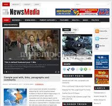 Free Templates Blogger Templates Magazine News Media
