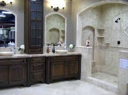 metal framed mirrors bathroom classic dark wood frame mirror black cabinet with handles grey tile of