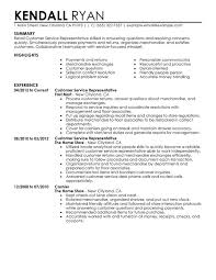 Retail Resume Summary Customer Service Representative Retail Resume