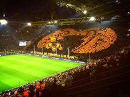Yellow wall with fantastic choreo and guests from frankfurt with big pyro show. Pin On Football