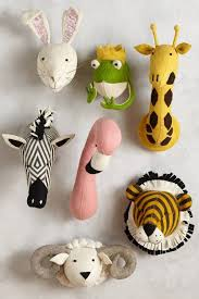 neoteric animal head wall decor for child room amazing mount art nursery australium hook nz vase