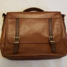 brown fossil leather messenger bag men s fashion bags wallets on carou