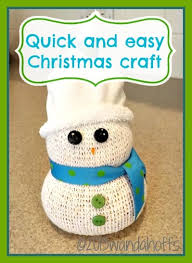 Quick And Easy Snowman Christmas CraftQuick And Easy Christmas Crafts