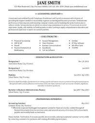 Accountant Resume Template Coachfederation