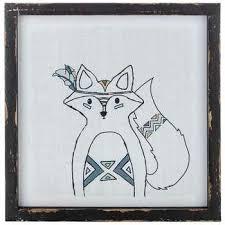 fox scout wood wall decor