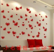 Wall Decoration Paper Design Paper romantic background wall decoration wall heart wall stickers 39